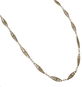 Trifari Trifari Victorian Inspired Edwardian Stainless Steel Necklace Chain
