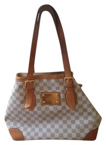 Louis Vuitton Monogram White And Grey Mm Leather Shoulder Bag