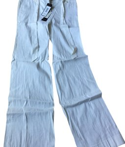 BCBGMAXAZRIA Wide Leg Pants White