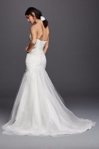 David's Bridal Strapless Sweetheart Mermaid Tulle Wedding Dress Wedding Dress