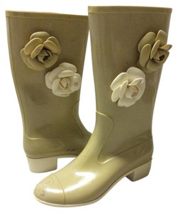Chanel Camellia Rubber Boots