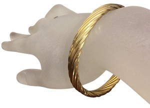 Napier Napier Gold Tone Hinged Bangle Bracelet