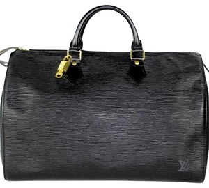 Louis Vuitton Speedy 40 Epi Canvas Speedy Weekend Travel Satchel in Noir (Black)