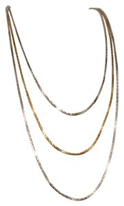 Act II Act II / 2 Vintage Style Triple Strand Elegant Shiny Necklace Chain