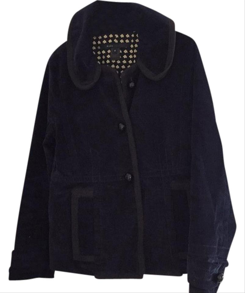 Marc Jacobs Navy with Black Detailing and Buttons Vintage Look Blazer Size  6 (S) 88% off retail