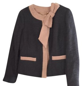 MILLY Charcoal grey with blush detailing Blazer