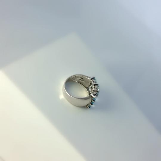 Other Thick Sterling Silver and Blue Topaz Ring Size 6.75 Image 3