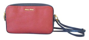 Miu Miu Madras Leather Cross Body Bag