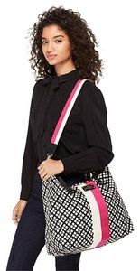 Kate Spade Black Cream Pink Travel Bag