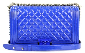 Chanel Patent Leather Boy Quilted Classic Shoulder Bag