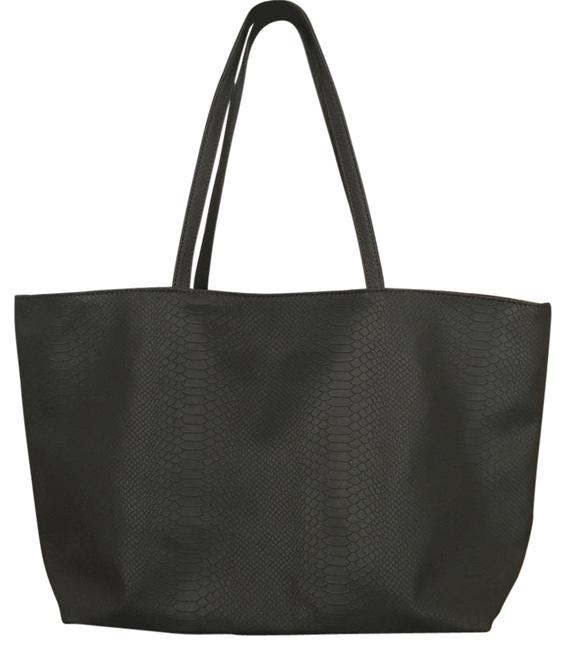 Item - Gray Faux Leather (Embossed) Tote
