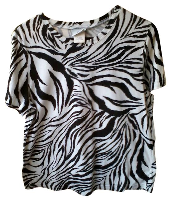 Preload https://item3.tradesy.com/images/hot-cotton-white-with-black-designs-t-shirt-2015062-0-0.jpg?width=400&height=650