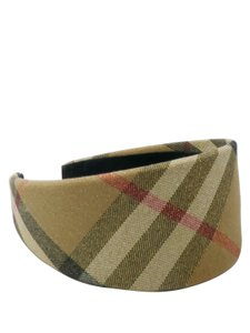 Burberry Burberry Shimmer Plaid Check Wide Headband Misc.