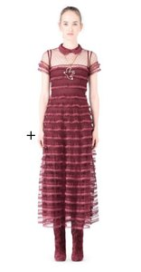 RED Valentino Lace Trim Dress