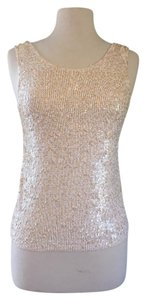 J.Crew Sequin Holiday Top Vintage Champagne