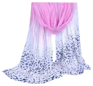 Other New Pink Black White Panther Spots Chiffon Scarf Long P2293
