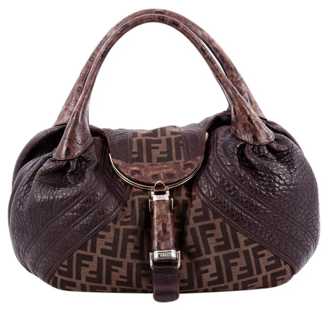 Item - Tortoise Spy Zucca Canvas and Leather Hobo Bag