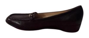 Taryn Rose Grained Leather Square Toe Black Flats