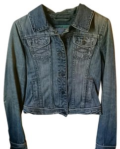 Abercrombie & Fitch lightwash distressed Womens Jean Jacket