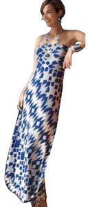 Blue & White Maxi Dress by Chico's