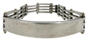 Tiffany & Co. Tiffany & Co. Men's Large Gatelink Sterling Silver 18K Gold Bracelet