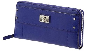 MILLY Milly Kiera Wallet Lapis Leather Zip Around