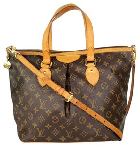 Louis Vuitton Monogram Canvas Palermo Satchels Tote in Brown