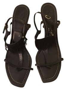 Gunmetal Black Sandals