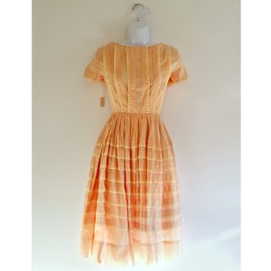 Other short dress Peach-Pink Vintage Retro 1950s 50s Circle Skirt on Tradesy