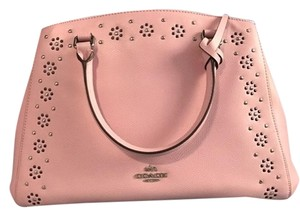 Coach Leather Studs Satchel in PInk