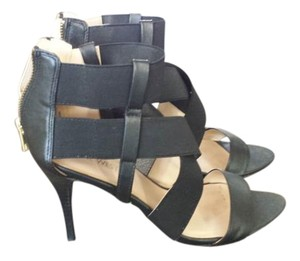 Nine West Strappy Stretchy Black Sandals