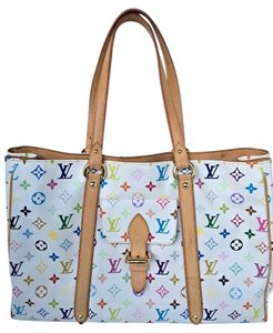 Louis Vuitton Tote in WHITE-MULTICOLOR