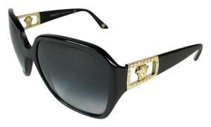 Versace Black & Swarovski Crystal Logo Medallion, Sunglasses