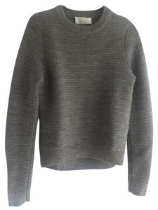 A.L.C. Wool Ribbed High Low Hem Sweater