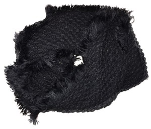 Other Scarf wrap Black Textured