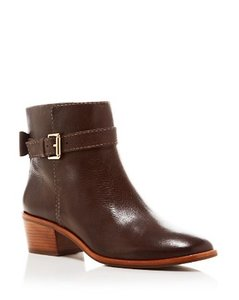 Kate Spade Black Leather Brown Boots