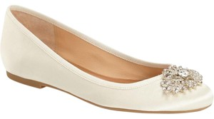 Badgley Mischka Abella Wedding Embellished Brooch Ivory Flats
