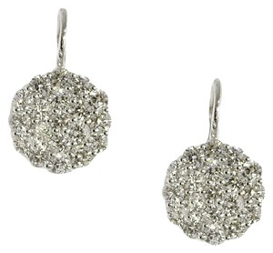 14K White Gold 3.0 Ct Round Diamond Dangle Earrings 7.2 Grams