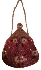 Other Beaded Wristlet Victorian Red Clutch