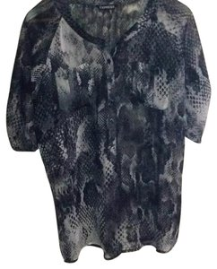 Express Top Multi black reptile print