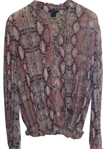 Moda International Top Multi pink reptile print