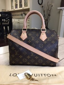 Louis Vuitton Speedy Bandouliere Monogram Cross Body Bag