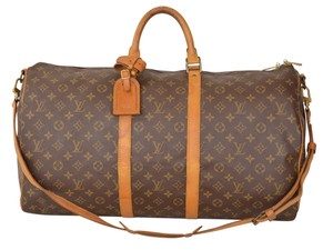 Louis Vuitton Lv Keepall 55 Keepall Bandouliere Keepall W Strap Brown Travel Bag