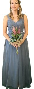 Alexia Designs Gray Tulle And Formal Bridesmaid/Mob Dress Size 8 (M)
