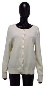 Talbots Cream Pima Cotton Cardigan