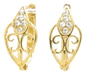 Other 18KT Elegant Gold Filled Cubic Zirconia Leverback Earrings