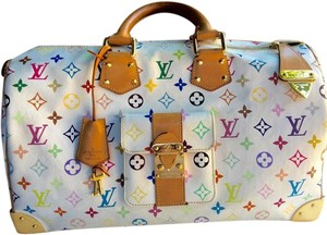 Louis Vuitton WHITE -MULTICOLOR Travel Bag