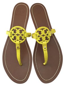 Tory Burch Mini Miller Sandal Leather Yellow Pumps