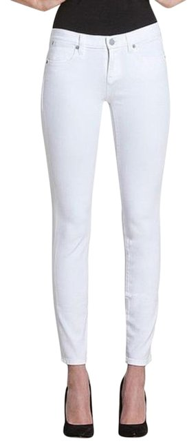 Item - White Light Wash Ideal Ankle Petite Skinny Jeans Size 24 (0, XS)