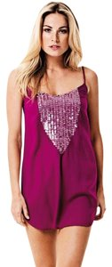 ViX Vix Embroidered Sequin Solid Slip Cover Up